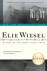 Cover of Wiesel's book Night