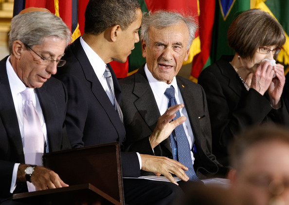Elie Wiesel shows his ugly side in an unguarded moment during a ceremony at the U.S. Holocaust Memorial Museum in 2012.