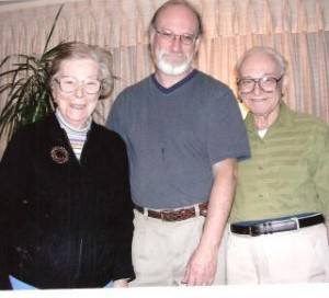 """Lucy Matzner (Paul's """"beloved"""" sister), her son Murray and husband Robert."""