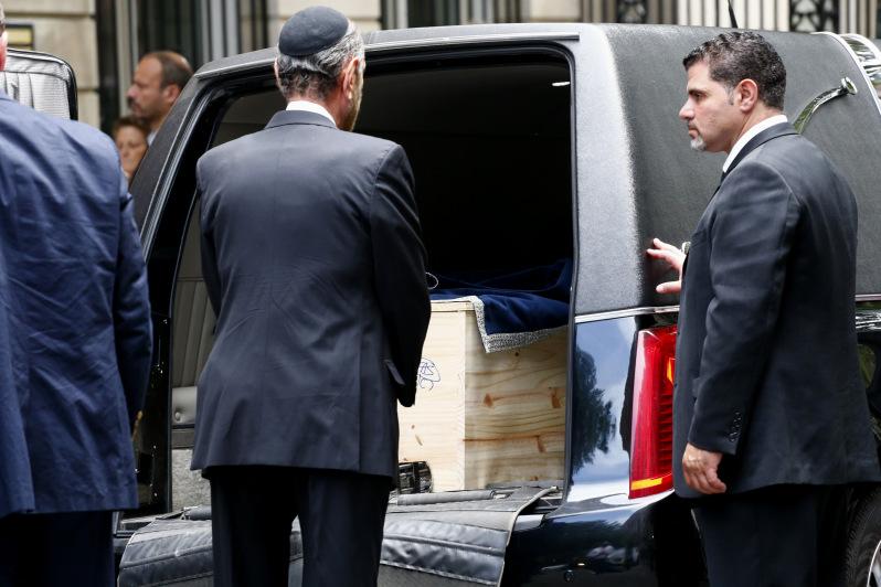 The casket for Nobel laureate and Holocaust survivor Elie Wiesel